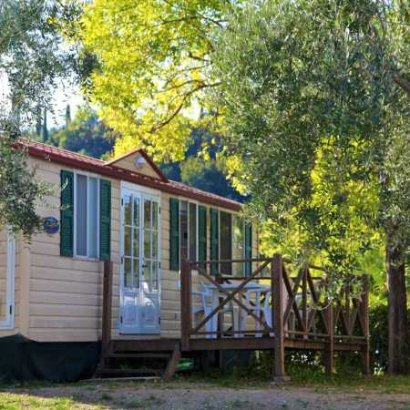 Camping Lake Garda with mobile home with terrace